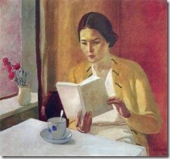 Alexander_Deineka_Mädchen mit Buch